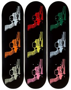 Fancy | Andy Warhol: Skateboard Triptych Guns