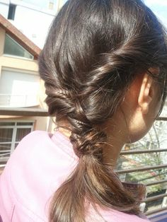 Messy boho hairstyle with micro fish braid