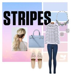"""""""Stripes"""" by nicolemonique4 ❤ liked on Polyvore featuring WithChic, Bloomingdale's, Kurt Geiger and ASOS"""