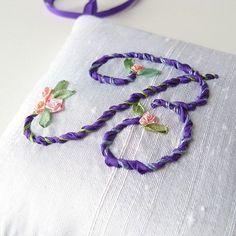 monogram in silk ribbon embroidery - Google Search