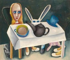 Charles BLACKMAN Feet beneath the table 1956....inspired by Alice in Wonderland ?