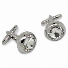Cuff Links in Fashionable Design, Customized Designs are Accepted, Made of Zinc Alloy