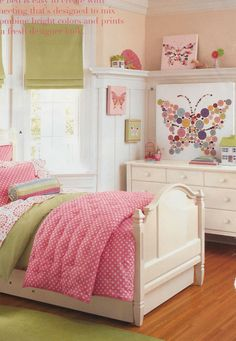 Love the polka dot butterfly (from Pottery Barn Kids) | Thrifty Decor Chick: April 2009