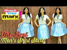 ▶ How to: The BEST Men's Shirt Skirt DIY (with real waistband) - YouTube