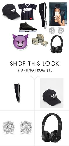 """BADDY"" by teniyahseago ❤ liked on Polyvore featuring adidas Originals, adidas and Effy Jewelry"