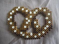 Pretzel perler beads by TsukiHimeChii