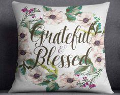 Floral Throw pillow Bible Verse Pillow by RamonaBellaDesign