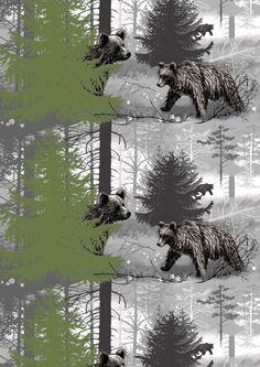 Karhunkierros, grey by Matleena Issakainen