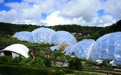 Eden or the world's largest greenhouse, a project with more than 10 million visitors