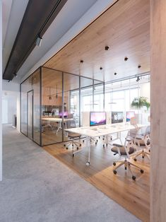 The office of medical company on Behance – office life Interior Design Office Space, Interior Design And Graphic Design, Workspace Design, Corporate Office Design, Modern Office Design, Corporate Offices, Modern Architecture House, Interior Architecture, Building Architecture