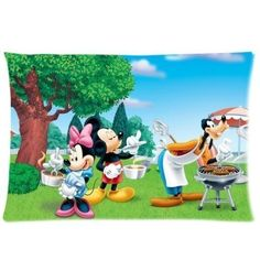 Newbility Mickey Mouse Custom Zippered Pillow Cases 20x30 Two sides -- BEST VALUE BUY on Amazon