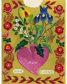 Illustration Courses, Garden Illustration, Medical Illustration, Creative Illustration, Floral Illustrations, Botanical Illustration, Saint Valentine, Arte Popular, Valentine Crafts