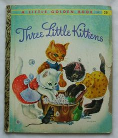 Three Little Kittens Vintage Little Golden Book by TheVintageRead, $5.95