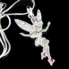 """PERFECT CHRISTMAS GIFT FOR LADIES!!! You are getting a Sexy Purple Fairy Angel Pendant with Swarovski crystals. It comes with a FREE 18"""" inches silver plated snake necklace with lobster clasp. Angel Pendant size is 7/8"""" (2.2cm) X 1 5/8"""" (4.2cm) Crystal Color: Amethyst, Light Amethyst =================== Prices are in US$. For shipping policies and other important inf..."""