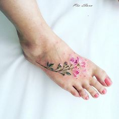 ... LIFESTYLE — Dainty & Ethereal Floral Tattoos by Pis Saro
