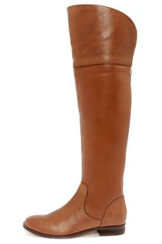 Luichiny Peg Gee Cognac Leather Over the Knee Riding Boots at LuLus.com! $166