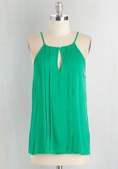 Style a Minute Top in Green, @ModCloth