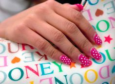 Dot In Pink Nails