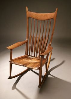 Rocking chair by Sam Maloof. Check out his works currently exhibited at the Huntington Library & Gardens.