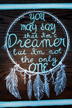 Dreamer DreamCatcher Wood Painting by designsbyjamey on Etsy