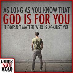 God's NOT Dead, He's surely alive.