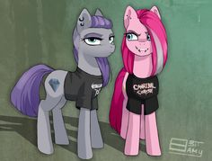 Pinkie Metal Pie by on DeviantArt Cartoon Video Games, Cartoon Shows, Rainbow Dash And Soarin, Mlp Characters, Mlp Fan Art, The Last Unicorn, Imagenes My Little Pony, My Little Pony Pictures, Princess Luna
