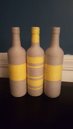 Fully Wrapped Wine Bottle Vase by MGMCraftsStore on Etsy