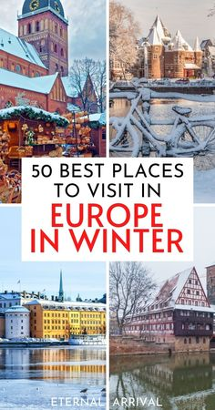 Want to spend winter in Europe? Here are 50 places to visit in Europe in winter, recommended by travel experts. Winter in Europe travel   winter city breaks in Europe   best winter destinations in Europe   Europe winter destination   winter breaks in Europe   Europe in the winter   Christmas in Europe   Europe in December   Europe in January   Europe in November   Europe in February   winter Europe travel   Europe winter trip ideas   Europe winter bucket list   Europe travel   winter travel