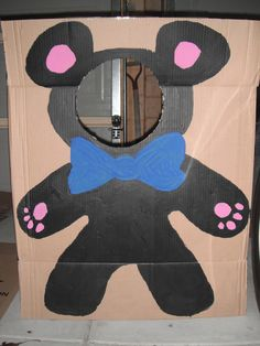 Teddy bear cut out I drew (with the help of a lovely friend!) and painted and cut out the head! Great for home corner Picnic Birthday, Bear Photos, Teaching English, Party Planning, The Help, Tea Party, Fairy Tales, Diy And Crafts, Preschool