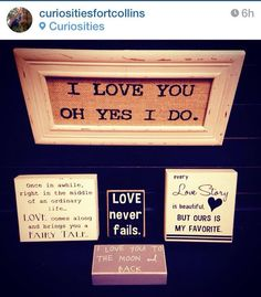 A sweet, sentimental sign for your loved one from Curiosities. http://www.curiosities.biz/