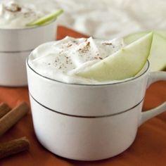 Hot Apple Pie Cocktail: Apple Cider, Tuaca, bourbon, whipped cream, cinnamon