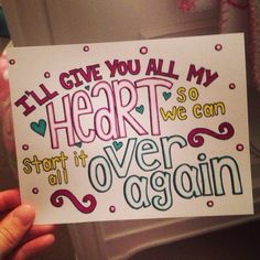 Over Again-One Direction
