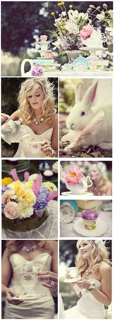 I wanted it to be a REAL Wonderland… something every bride would want to step into and that they can create for their own wedding, bridal shower, or engagement photo session. I wanted pastels, spectacular florals, to bring the inside outside, and most of all fun, whimsical, and delicious details. I wanted to find the perfect photographers to capture this …