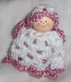 Crocheted angels babyshower angels baby by Hildescrochetshop