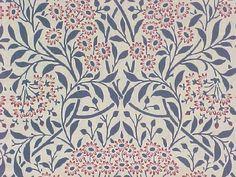 William Morris fabric and William Morris wallpaper MichaelmasDaisy Owen Jones