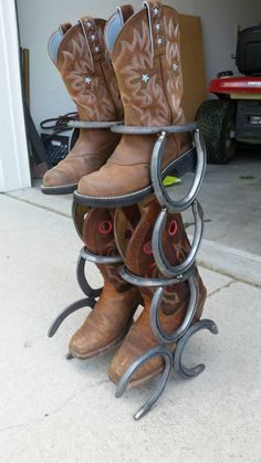 Hey, I found this really awesome Etsy listing at https://www.etsy.com/listing/244819121/horseshoe-boot-rack