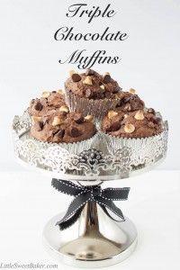 Triple Chocolate Muffins - Little Sweet Baker