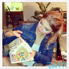 Photo: Stefanie Scott Working On A Gingerbread House December 9, 2013