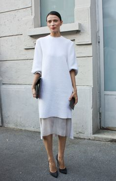 Clean Minimalism - a favourite street style snap. Perfect.