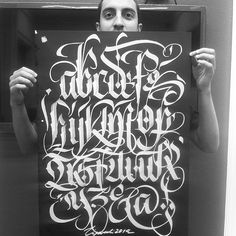 new upper case - Salvabrani Gothic Lettering, Graffiti Lettering Fonts, Chicano Lettering, Tattoo Lettering Fonts, Lettering Styles, Lettering Design, Tattoo Fonts Alphabet, Hand Lettering Alphabet, Typography Letters