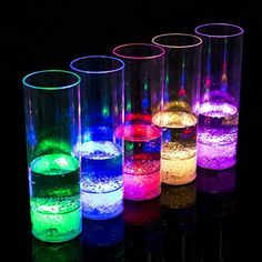 Ultra ® Pack of 8 LED Flashing Multi Coloured Glasses Drinking Glass Novelty Plastic Light up Re-usable Funky Cocktail Glasses Tumbler Multi Coloured Flashing LEDs Perfect for Parties Bars Clubs or Celebrations LED Glass Glow Party Decorations, Bars And Clubs, Kids Party Supplies, Drinking Glass, Leaded Glass, Photography Projects, Beautiful Lights, Light Up, Wine Glass