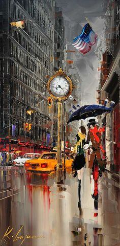 "Kal Gajoum ~ Fifth Avenue, New York III   ~  48""x24"""