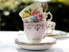 Mismatched tea cups