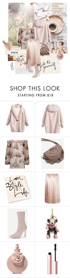 """Keep it Cozy: Fuzzy Coats"" by lacas ❤ liked on Polyvore featuring Dolce&Gabbana, Nude, Burberry, Valentino, Too Faced Cosmetics, Hard Graft, shein and fuzzycoats"