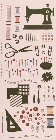 【手ぬぐい】気音間 Sewing Set(ソーイング セット)手ぬぐい(てぬぐい)・風呂敷(ふろしき)・扇子専門店【楽天市場】
