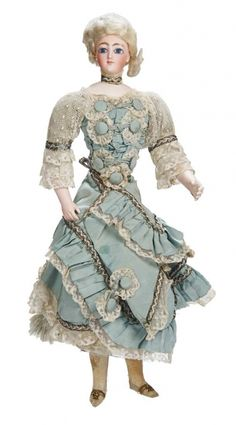 Kaleidoscope: 58 Rare French Bisque Portrait Lady in Original Costume as Bon-Bon Container