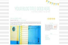 Premade Self Hosted WordPress Theme: Flag Detail, $35  {Beautiful Dawn Designs}...installation for extra $20.