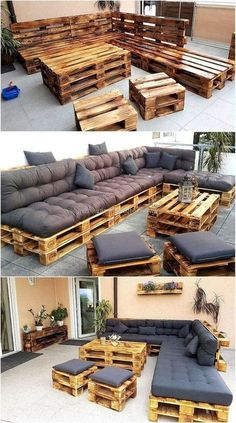 Pallets made of patio furniture - Mobel Diy - # furniture # ., Pallets made of patio furniture - Mobel Diy - # furniture # patio furniture. Pallet Garden Furniture, Pallet Patio, Diy Patio, Outdoor Furniture Sets, Pallet Sofa, Patio Ideas, Outdoor Sofa, Diy Furniture Cheap, Home Furniture