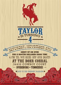 Cowboy theme invite