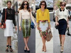 Pencil skirts 2014 Nice to see the hem line come down